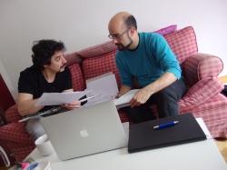 Julián Elvira junto al compositor Pedro Gómez